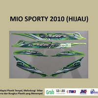 Mio Sporty 2010 (hijau) List Striping Stripping Stiker Sticker