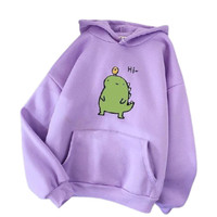 Baju Sweater Anak Perempuan 6-10 Tahun Hi Dino/ Hoodie Sweater Anak