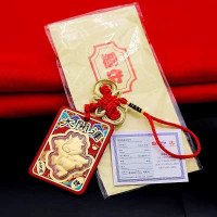 Angpao hoki Kerbau Emas 24k Gantungan Mobil Jimat Hoki emas Kado Ultah
