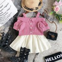 Pakaian Setelan Rok Baju Sabrina Import Murah Anak Cewek