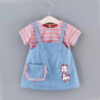 dress overall anak perempuan import / baju kodok rok anak usia 0-3 thn