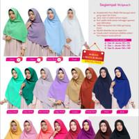 Kerudung Hijab Segi Empat Syari Jumbo Polos Woolpeach Azkia Hijab