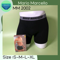 Celana Boxer Pria Mario Marcello MM 2002 ISI-2 PCS Bahan Rayon Spandex