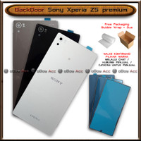 BackDoor Tutup Casing Belakang HP Sony Xperia Z5 Premium Cover - Black