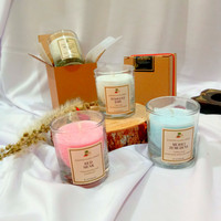 Lilin aromaterapi/scented glass candle   hampers, souvenir