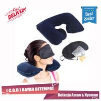 Travelmate Bantal Leher Tiup & Tutup Mata Telinga / Travel Pillow Set