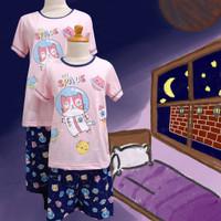 Baju Tidur Anak Cewek Anne Claire (Kitty Space) St. Lgn Pdk Cln Pdk