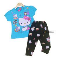 Setelan Hello Kitty uk 5-6 Tahun / Baju Anak Karakter Celana Legging