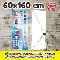 Cetak Y-Banner Outdoor|Standing Banner 60x160cm - PROKES DOKTER GIGI
