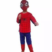 baju spiderman/kostum superhero spiderman