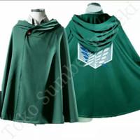 Attack on Titan Cloak Shingeki no Kyojin Jubah Scouting Cosplay Baju