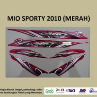 Mio Sporty 2010 (merah) List Striping Stripping Stiker Sticker