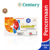 Lacidofil 1 botol isi 10 kapsul/Probiotik/Suplemen pencernaan/diare