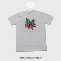 KAOS (T-shirt) TROPICAL WHITE - Putih, S