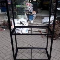 Custom Rak besi Aquarium ukuran 120x30x50 cm Pesan order