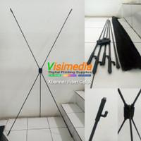Xbanner Fiber Colok 60x160 | Standing Banner | Umbul-Umbul