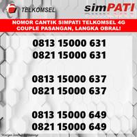 kartu perdana couple simpati nomor cantik pasangan telkomsel 4G obral