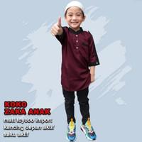 AP koko zaka anak,baju kemeja anak muslim terbaru 2021 usia 4-11 tahun