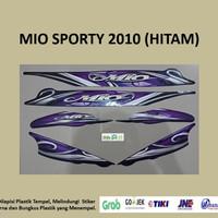 Mio Sporty 2010 (hitam) List Striping Stripping Stiker Sticker
