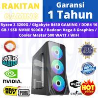 PC RAKITAN GAMING RYZEN 3 3200G 16GB 500GB NVMe RX Vega 8