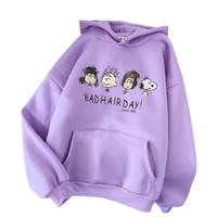 Sweater Hoodie Anak Perempuan 6-10 Tahun Bad Hair/ Baju Sweater Hoodie
