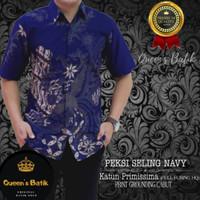 baju batik pria lengan pendek,kemeja batik,kemeja batik slimfit,batik - naga merah, S
