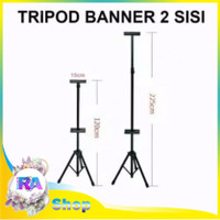 Tripod Banner Termurah, Standing Banner Hitam