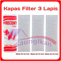 Kapas Top Filter Putih RECENT 3 LAPIS Tebal Awet Murah