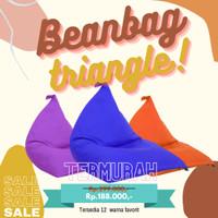 Bean Bag plus isi Murah - TRIANGLE - Beanbag Dewasa Size Medium
