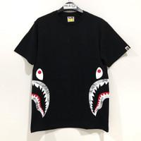Bape Digital Camo Side Shark T-shirt Black Grey 100% Original