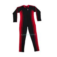 Baju renang diving panjang /selam untuk anak usia 3-7 tahun (pria dan - KOMBINASI MERAH, 3-4 tahun