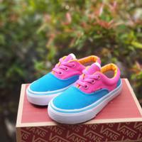 Sepatu Anak Vans Authentic Kids blue pink, Size 21-35