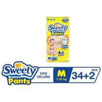 Pempers Sweety Bronze Pants M 34+6 Popok Bayi Celana