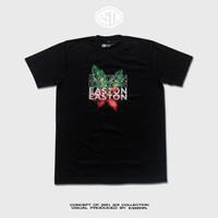 KAOS (T-shirt) TROPICAL BLACK