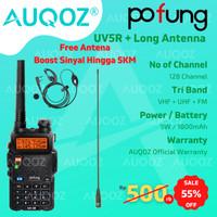 AUQOZ x Pofung UV5R Walkie Talkie - Radio HT + Nagoya Long Antenna