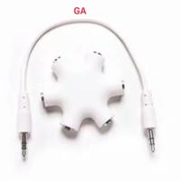 Spliter Audio Aux 3.5mm Jack 6 Way Ports Male To 5 Female