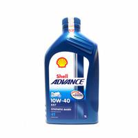 Oli Mesin Shell Advance BIRU AX7 AX 7 4T SAE 10W-40 1000 ml 1 Liter
