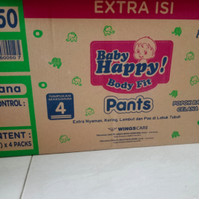 baby happy pants carton isi 4 ball M/L/XL/XXL