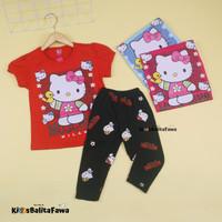 Setelan Hello Kitty uk 2-3 Tahun / Baju Anak Perempuan Celana Legging