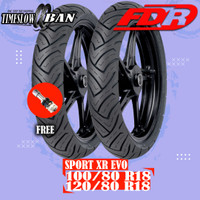 Paket Ban Motor MOGE // FDR SPORT XR EVO 100/80 - 120/80 RING 18