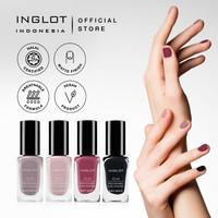 (Matte Series) INGLOT O2M Breathable Nail Enamel - Kutek Halal, 11 ml
