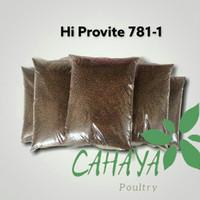 Pakan benih ikan lele nila gurame pelet Hi Provite 781-1 repack 1kg