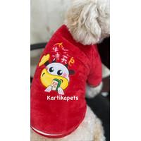 Baju cheongsam anjing kucing untuk imlek sincia CNY bahan premium 9