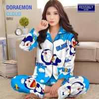 LAZA Piyama PP Wanita Motif Karakter Doraemon