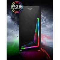 Casing Gaming Armaggeddon Nimitz N5 Aurora - Hitam & Putih - Hitam
