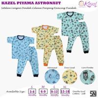 Kazel Piyama Astronaut - Baju Tidur Anak -Oblong Pendek Celana Panjang