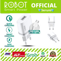 ADAPTOR ROBOT RT-K7 5V/1A FIREPROOF CHARGER+Micro USB Cable