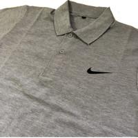 Kaos Polo / Baju Kerah Pria Wanita N01 / Baju Olahraga Warna Abu Misty - XXL