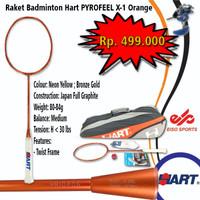 Promo Raket Badminron Hart Pyrofeel X-1 Orange