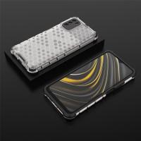 Case Xiaomi Poco M3 Hive Series Fuze Anti Crack Rugged Hybrid Casing - Clear Black